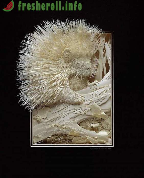 Amazing three-dimensional sculptures out of paper by Canadian artist