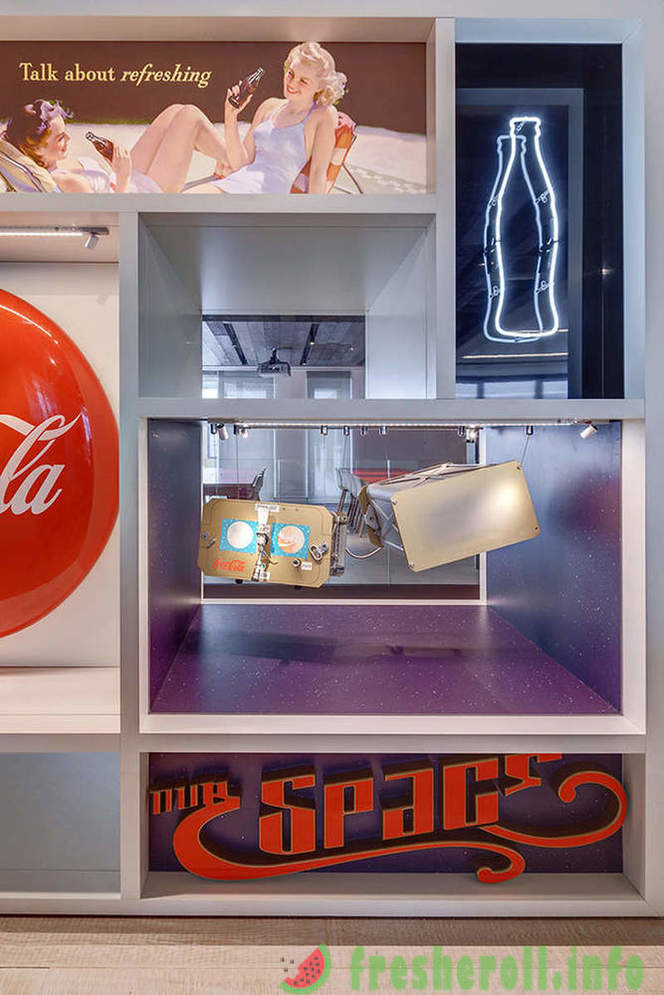 Cheerful Coca-Cola office in London