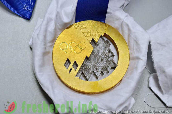 How to make medals for the Olympic Games in Sochi