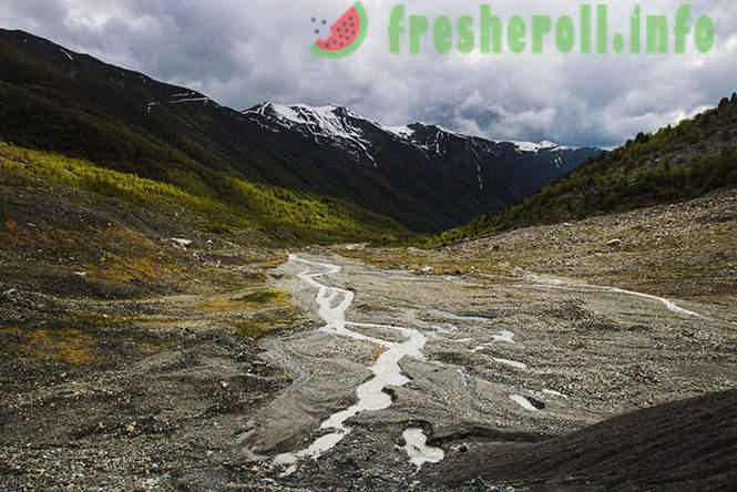 The largest glacier Svaneti